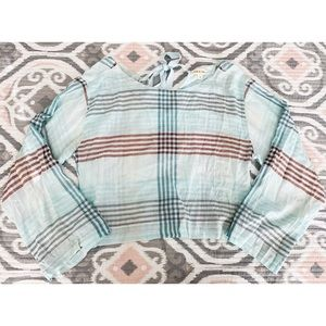 Anthropologie Tops - | Anthropologie | Cloth & Stone Plaid Tie Back Top